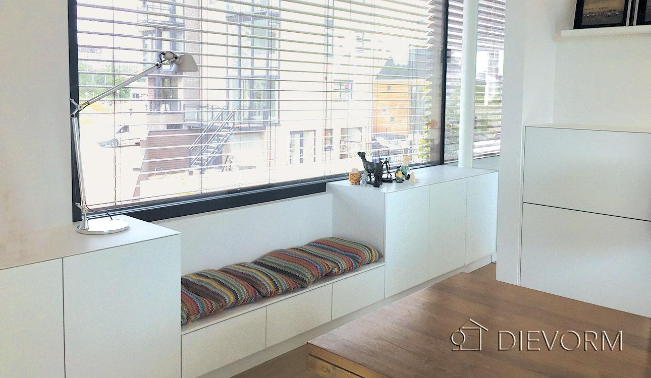 dressoir met bank kastontwerp dievorm