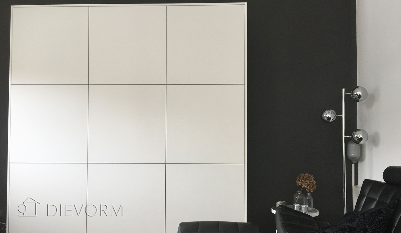 wandkast design wit squares dievorm