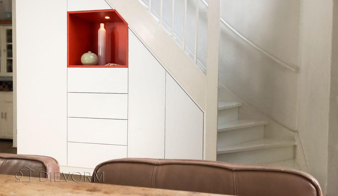 Zeer Trapkast laten maken/ kast onder trap laten maken Amsterdam QW47