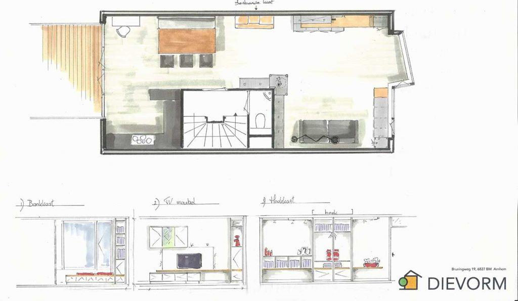 tv meubel design wandkast design raambank design