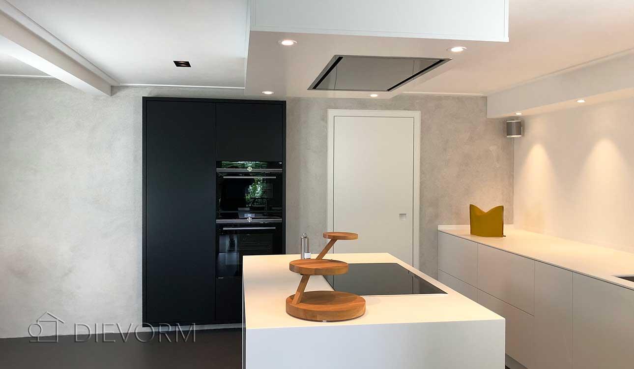 design keuken zwart wit