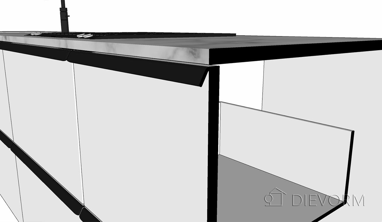 keuken schets_lange rechte greep keuken_detail_doorsnede