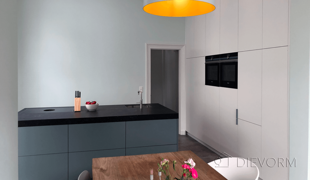 design_keuken_groen_velp_bora kookplaat_quooker_eiland